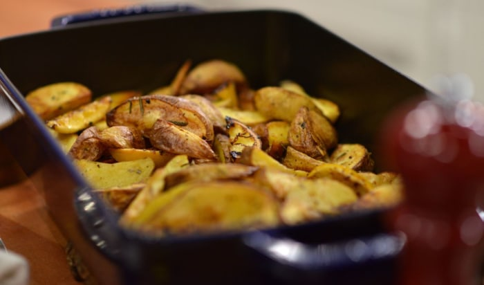 Michael White makes 3-ingredient roasted potatoes