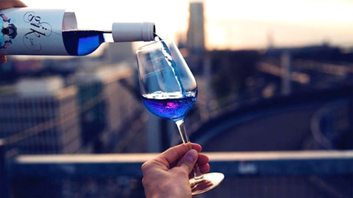 Blue wine is a new drink