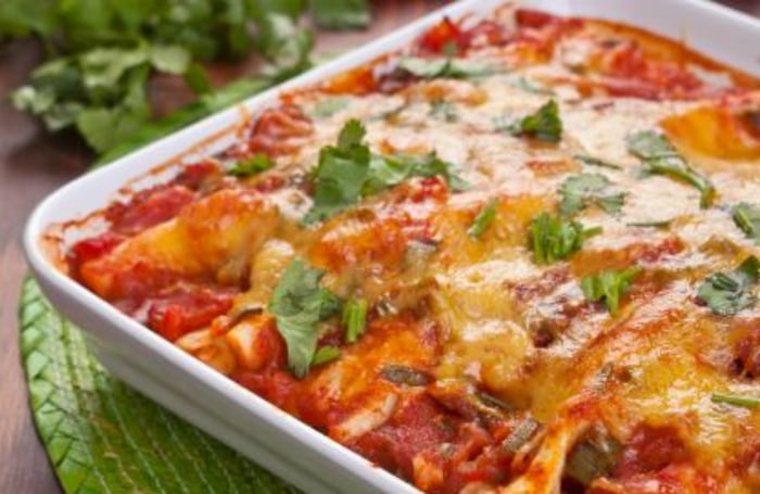 Joy Bauer's chicken enchilada