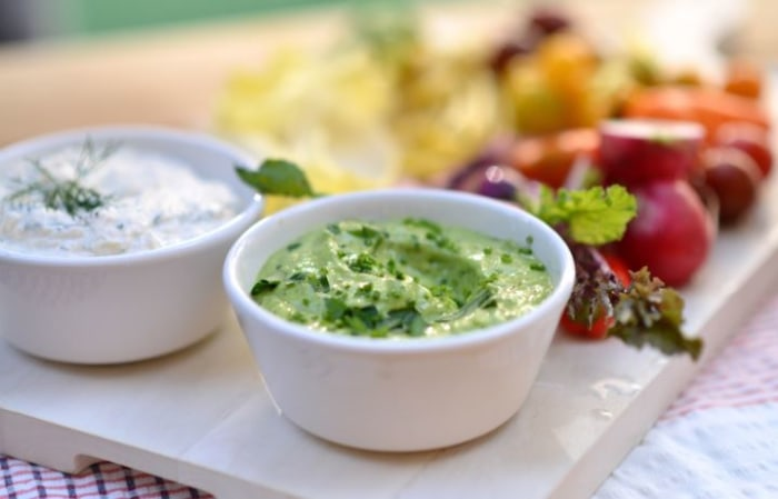 Martha Stewart makes delicious avocado ranch dip.