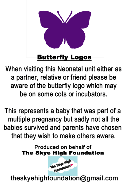 Purple Butterfly Stickers Help Nicu Parents With Infant
