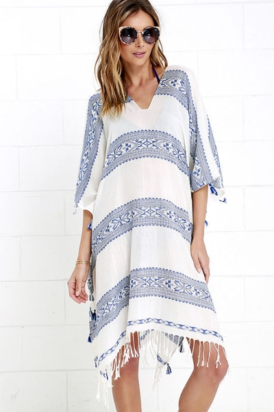 Beach cover-ups and sun hats for a chic summer look