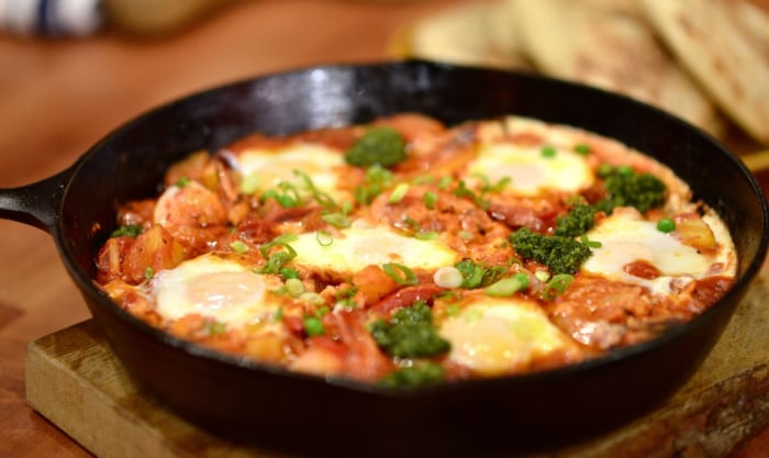 Louisiana Shrimp Shakshuka