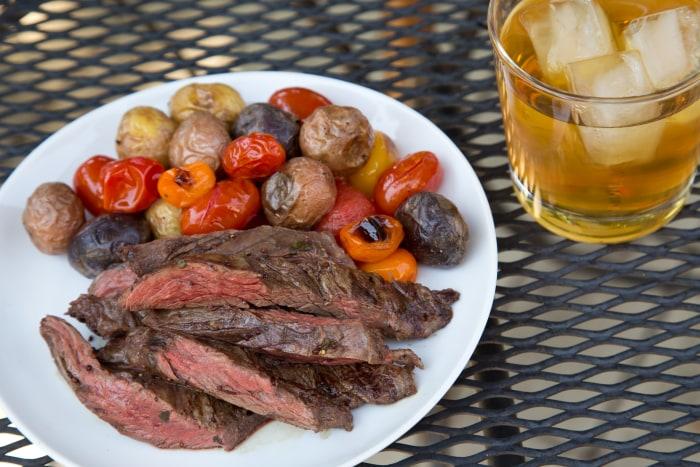 Steak with tea marinade