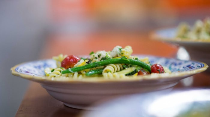 Ryan Scott makes a delicious crab pasta salad for summer.