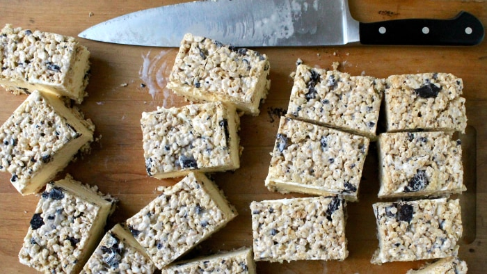Cookies & Cream Rice Krispies Treat Ice Cream Sandwiches