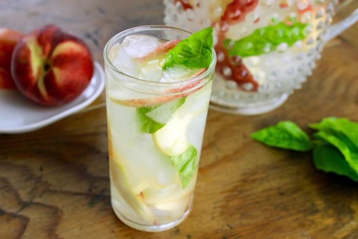 White peach and basil sangria recipe