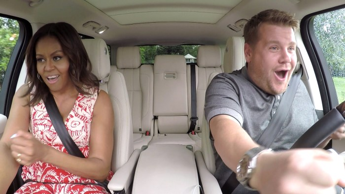Michelle Obama dances to Beyonce's Single Ladies in Carpool Karaoke