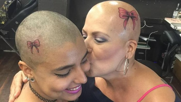 After Breast Melanoma Mom And Daughter Get Tattoos They Hope To On