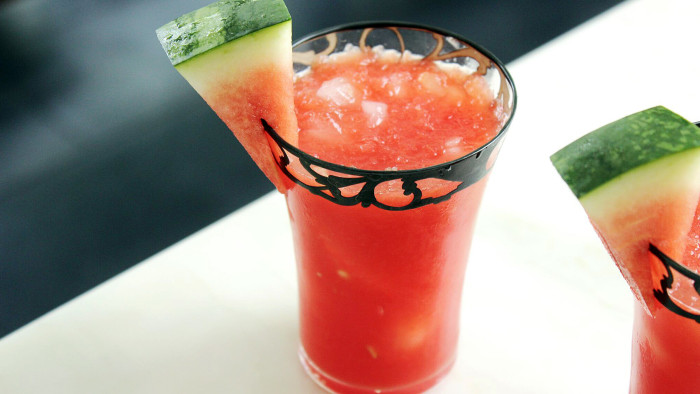 Watermelon rum cocktail