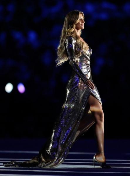Gisele Bundchen during the 2016 Rio opening ceremony