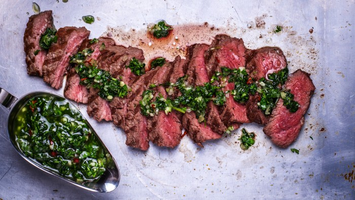 Brazilian-Style Grilled Steak with Chimichurri
