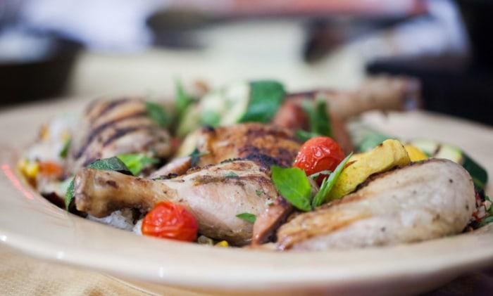 Katie Lee's grilled chicken paella