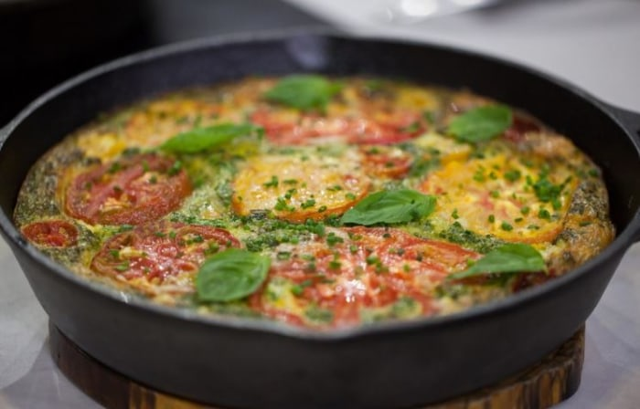 Al Roker's vegetable and bacon frittata