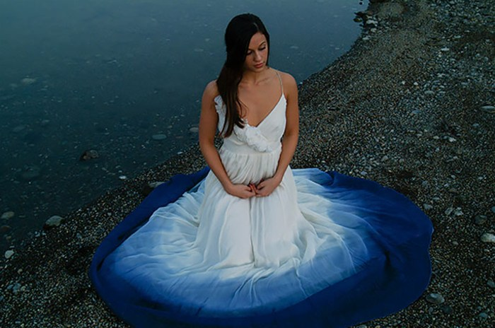 Dip dyed colorful wedding dresses are the new bridal for Dyeing a wedding dress professionally