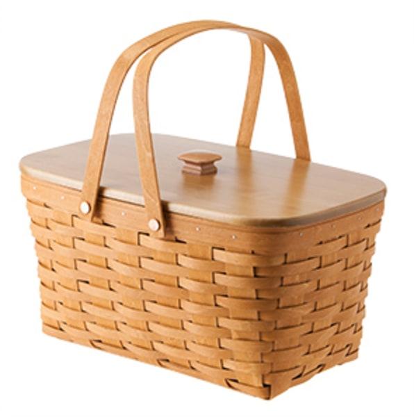 A picnic basket shaped building is on the market for 5 Longaberger basket building for sale