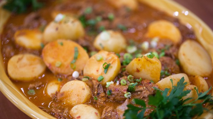 One-Pot Mexican Steak and Potato Stew with Guajillo Sauce