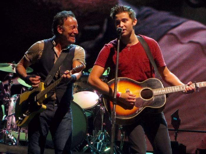 an analysis of the subject of bruce springsteens streets of philadelphia Lyrics to born in the u s a by bruce springsteen: born down in a dead man town / the first kick i took was when i hit the ground / you  streets of philadelphia.