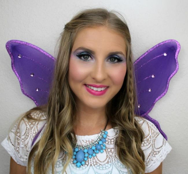 pink and purple fairy - Fairy Halloween Makeup Ideas