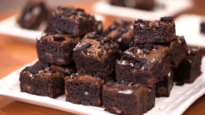 Jocelyn Delk Adams' One-Bowl Chewy Oreo Brownies