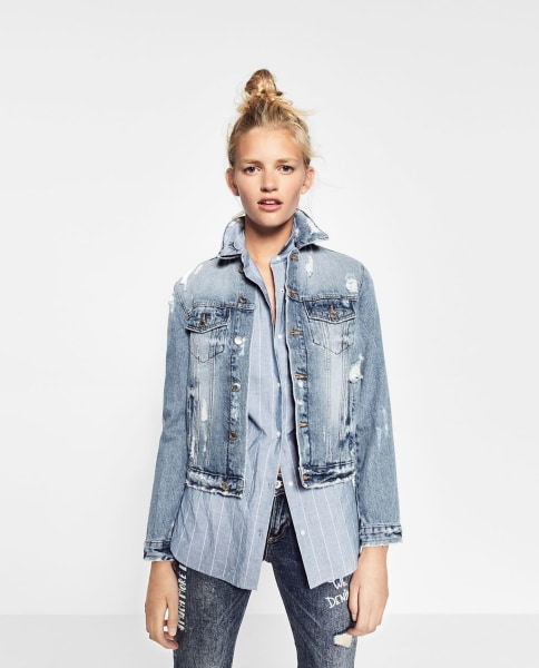 Fall denim jackets: Distressed, patches, oversized and more ...
