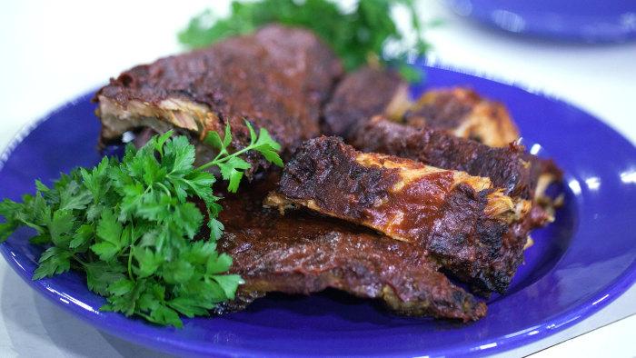 Danielle Walker's tender BBQ pork ribs and cauliflower Buffalo bites