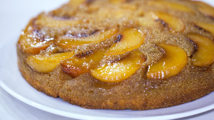Alejandra Ramos' tiramisu and peach upside down cake