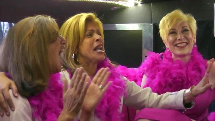 Hoda Kotb Pink Forward Ring