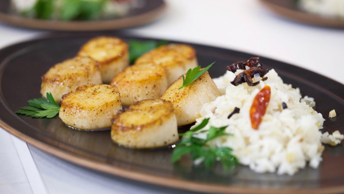 Pan-Roasted Scallops with Spiced Butter
