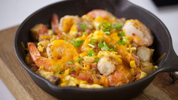 Low Country Cast-Iron Skillet Scramble & Potato Hash