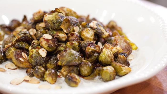 Pomegranate-Roasted Brussels Sprouts