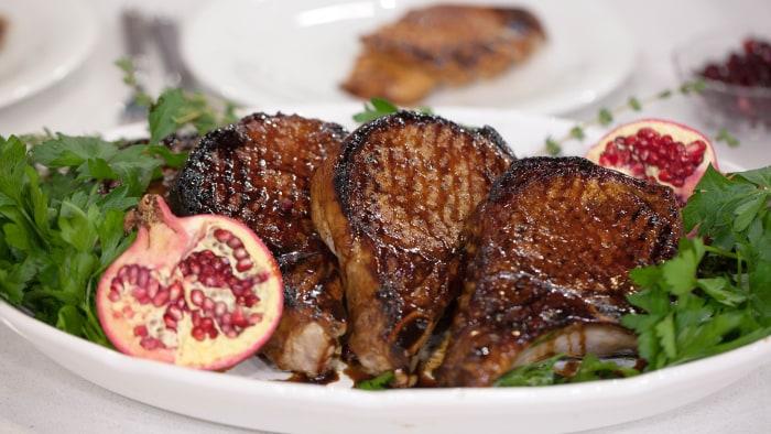 Pork chop agradolce