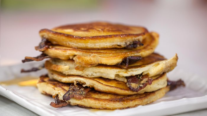 Bacon pancakes. Make 5 mouth-watering breakfasts out of this brown sugar-black pepper bacon.