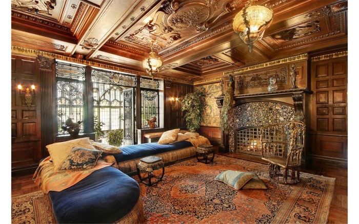 This castle outside of new york city is for sale for Living room today