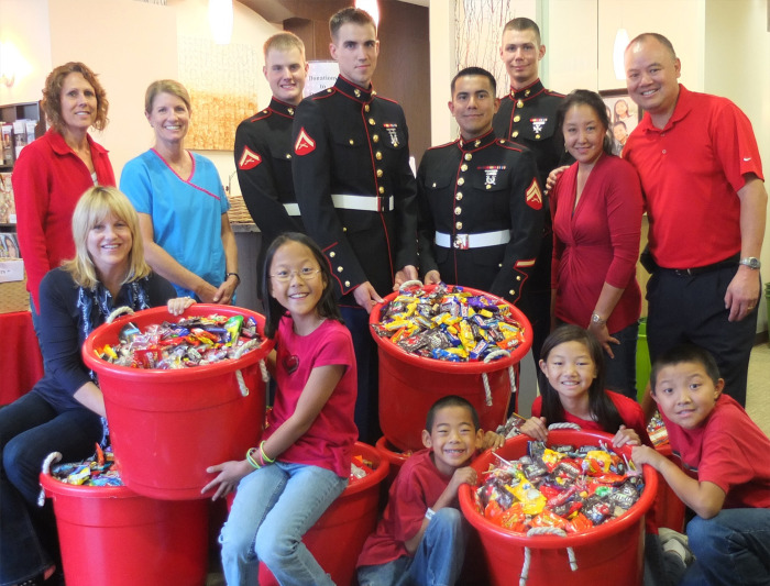 courtesy of operation gratitude - Halloween Candy Kids
