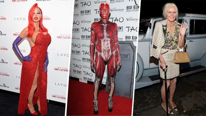 Heidi Klum wins Halloween with Michael Jackson 'Thriller' costume ...