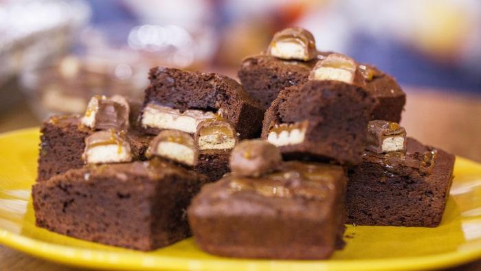 Stuffed Chocolate Caramel Brownies
