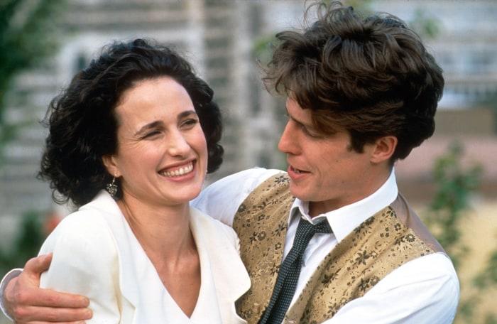 'Four Weddings' stars Hugh Grant and Andie MacDowell ...