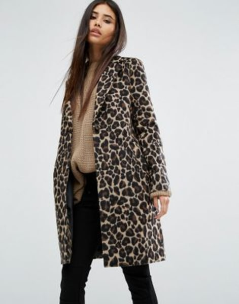 River Island Brown Belted Wrap Coat