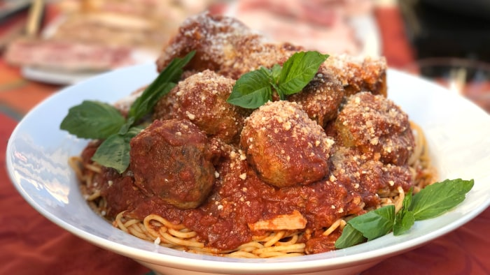 Tony Danza's Sunday Sauce with Meatballs and RibsTODAY, November 18th 2016.