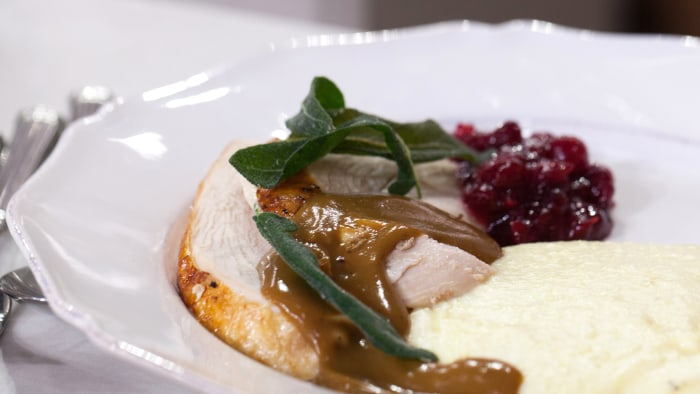 Curtis Stone's Roast Turkey with Sage Brown-Butter Gravy.TODAY, November 22nd 2016.