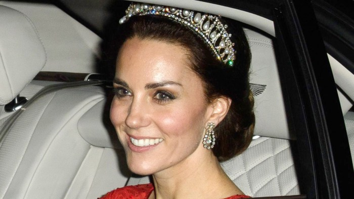 Kate Middleton wears Diana's tiara
