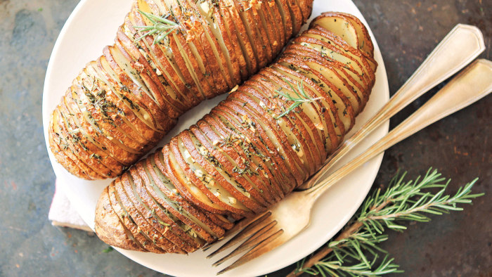 Rosemary Garlic Hasselback Potatoes recipe