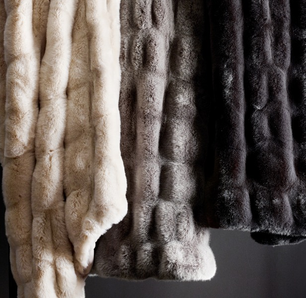 Ruched Faux Fur Throw Today Show