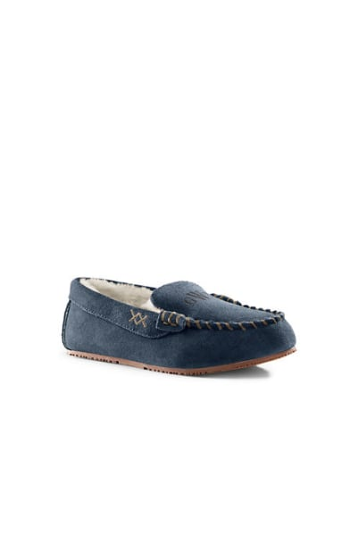 Land's End Personalized Suede Moc Slippers Today Show