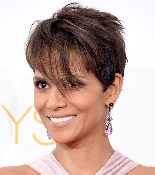Halle Berry Short Hairstyles halle berry pixie short hairstyles lookbook stylebistro Getty Images Halle Berry Poses At The