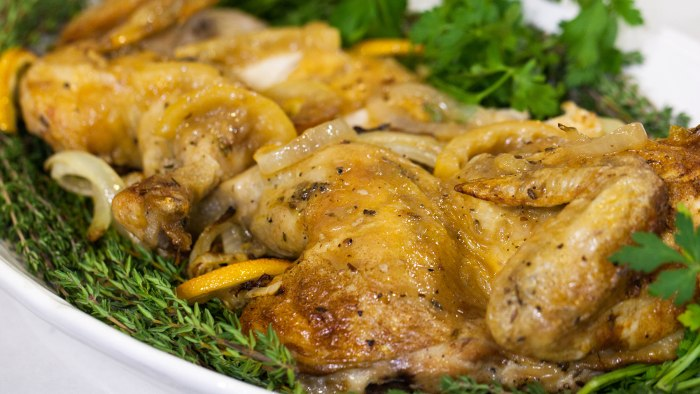 ina garten's skillet-roasted lemon chicken - today
