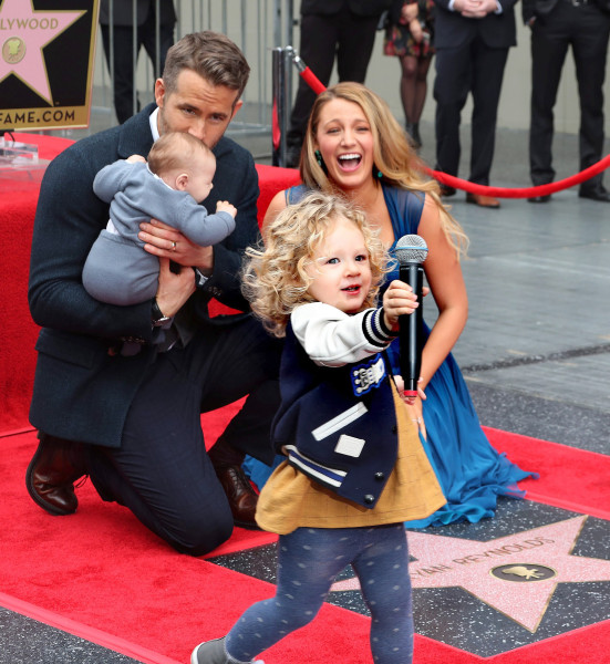Ryan Reynolds and Blake Lively make first appearance with daughters