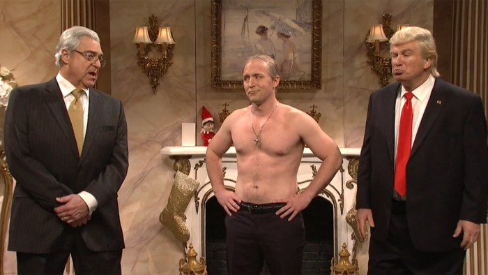 Putin makes a surprise Christmas visit to Trump on 'SNL'