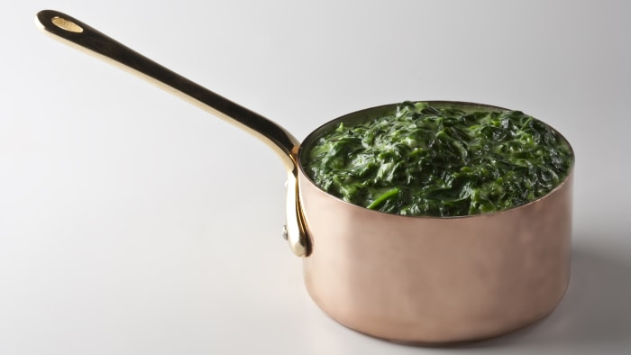 Black truffle creamed spinach from Strip House